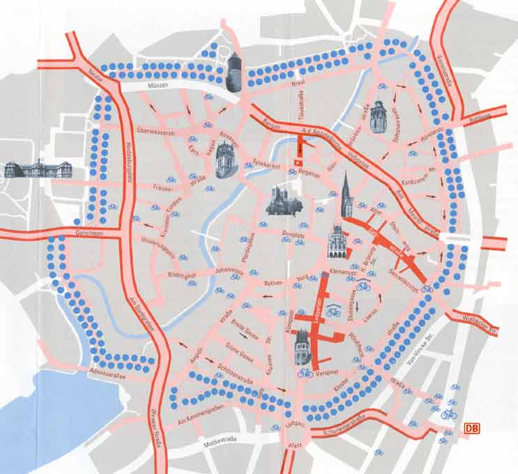 Bicycling In Muenster - Germany map munster